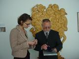 zleva: Renata Sykorova Turnidge, 2. tajemnice Velvyslanectví Spojených států amerických, a Pavel Pavlík, hejtman Libereckého kraje