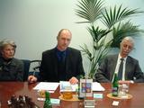 Hejtman Libereckého kraje Petr Skokan a norský velvyslanec v ČR Peter Raeder při tiskové konferenci