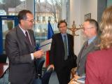 Francouzský velvyslanec v ČR a hejtman Libereckého kraje při společném jednání