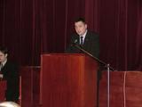 pan František Gábor, člen rady pověřený vedením rozvoje kraje, při přednášce na Nisainvestu