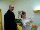 Gratulace mamince 1. občánka Libereckého kraje roku 2005