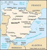 mapa Španělského království